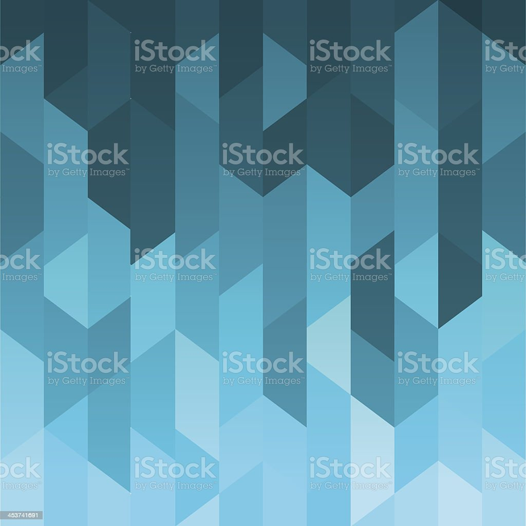 Geometric Background (Water) royalty-free stock vector art