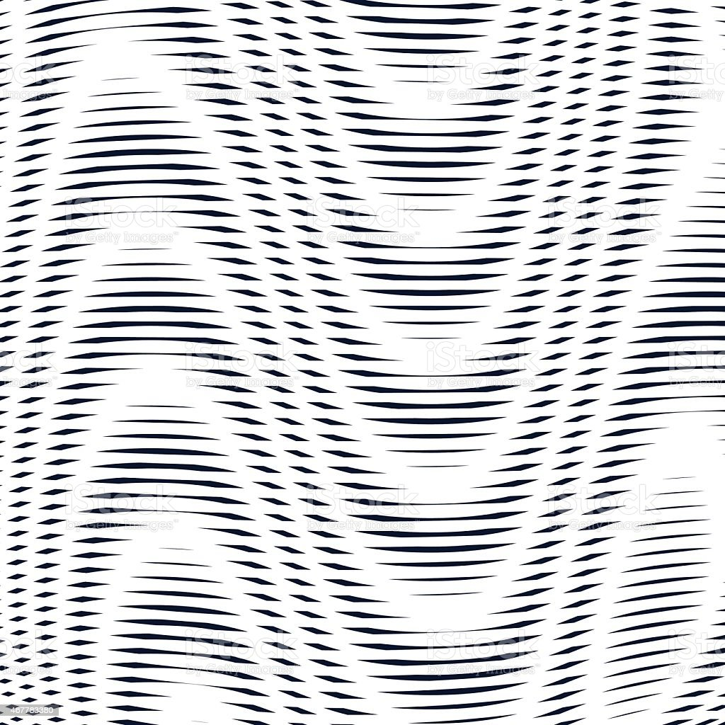 Geometric background with moire technique. Noisy contrast vector art illustration