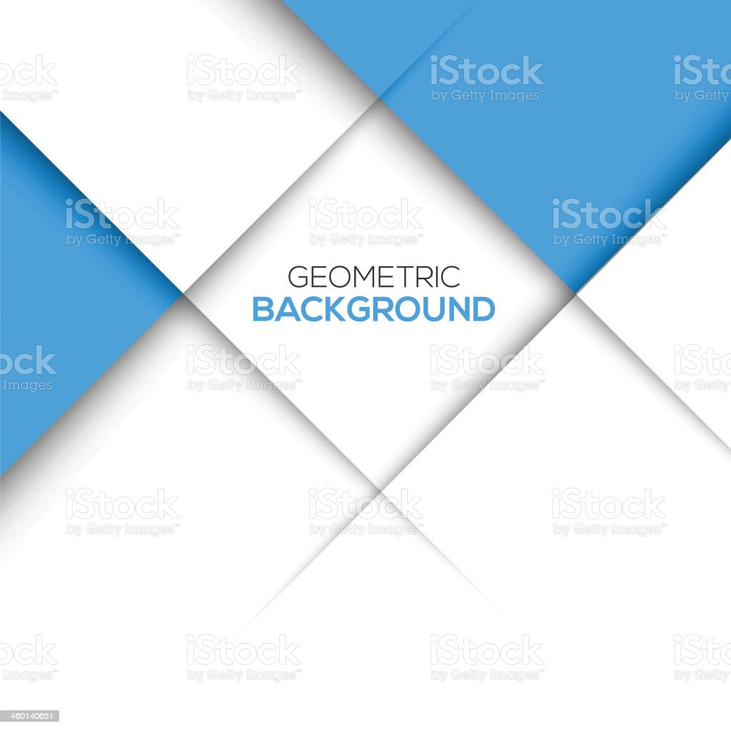 Geometric blue 3D background vector art illustration