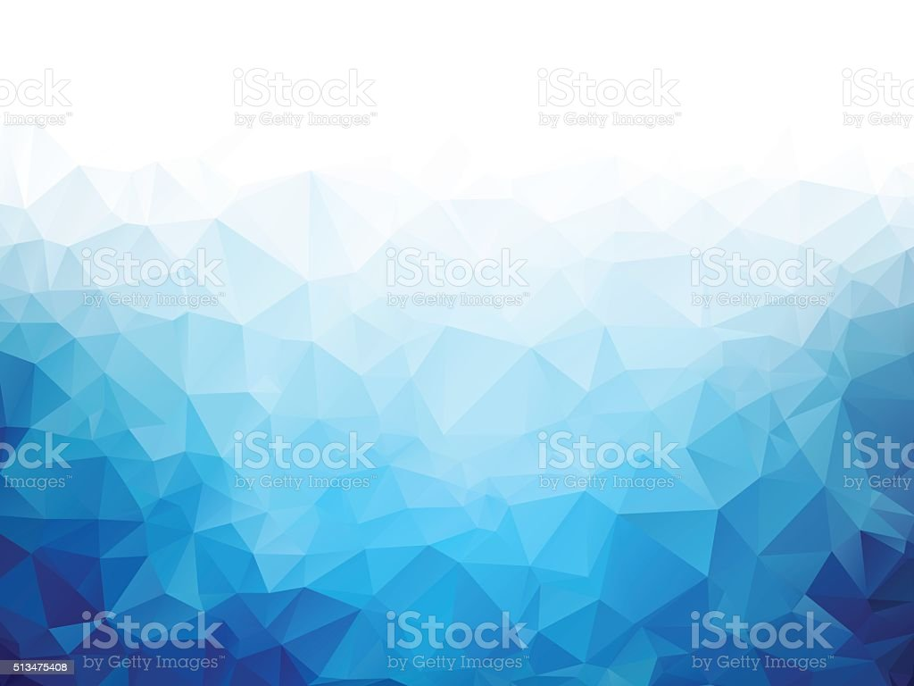 Geometric blue ice texture background vector art illustration