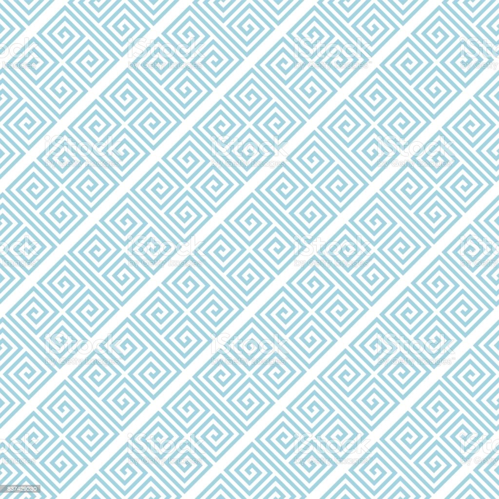 Geometric blue seamless pattern as background vector art illustration