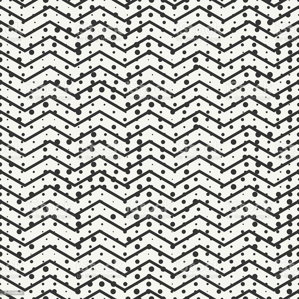 Geometric chevron zigzag stripes pattern. Background. Randomly disposed spots. vector art illustration