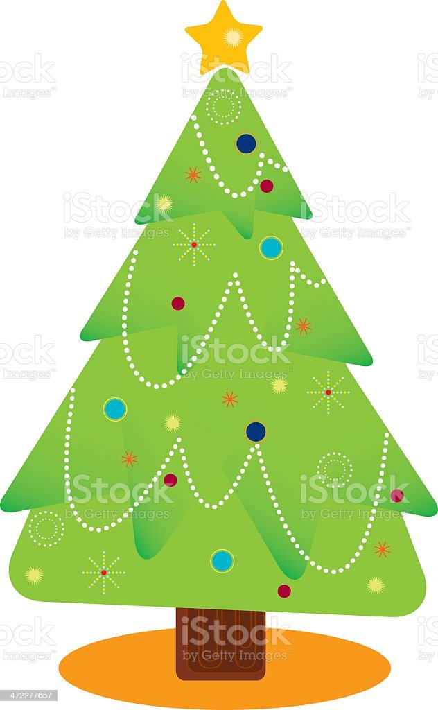 Geometric Christmas Tree royalty-free stock vector art
