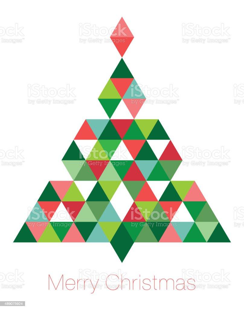 Geometric Christmas Tree vector art illustration