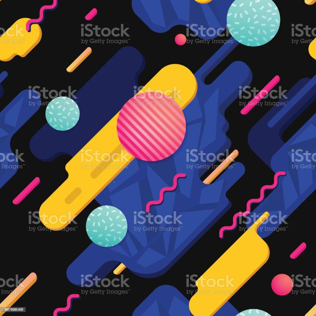Geometric colorful shapes vector art illustration