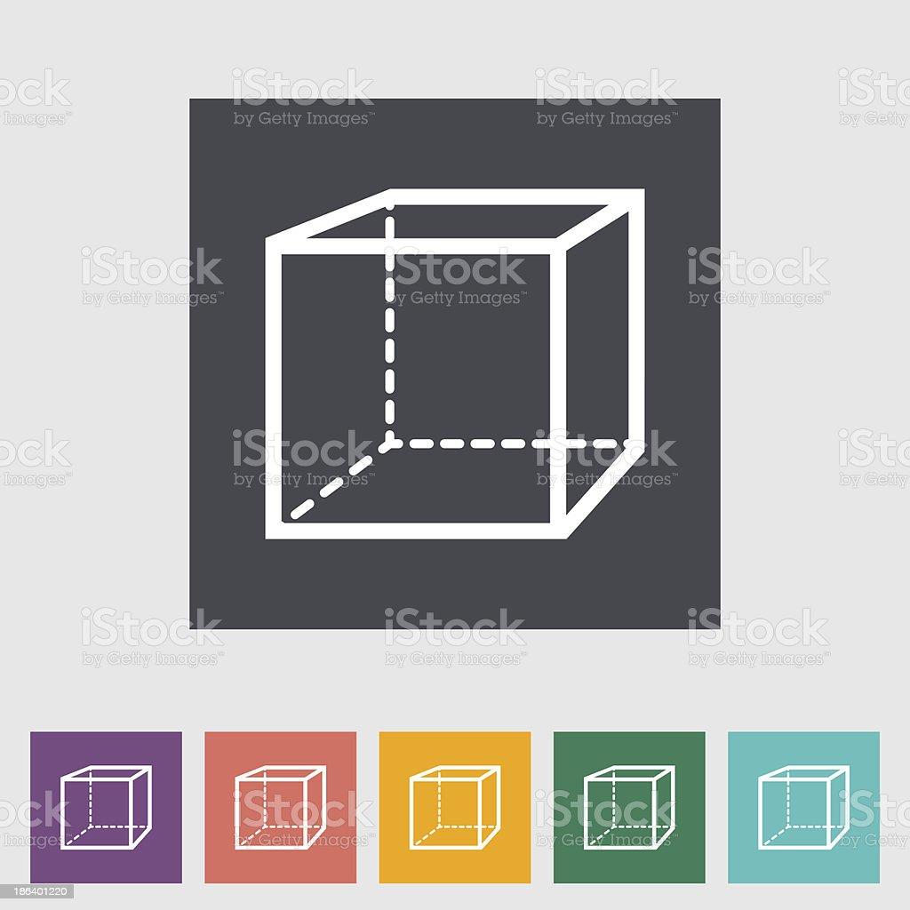 Geometric cube royalty-free stock vector art