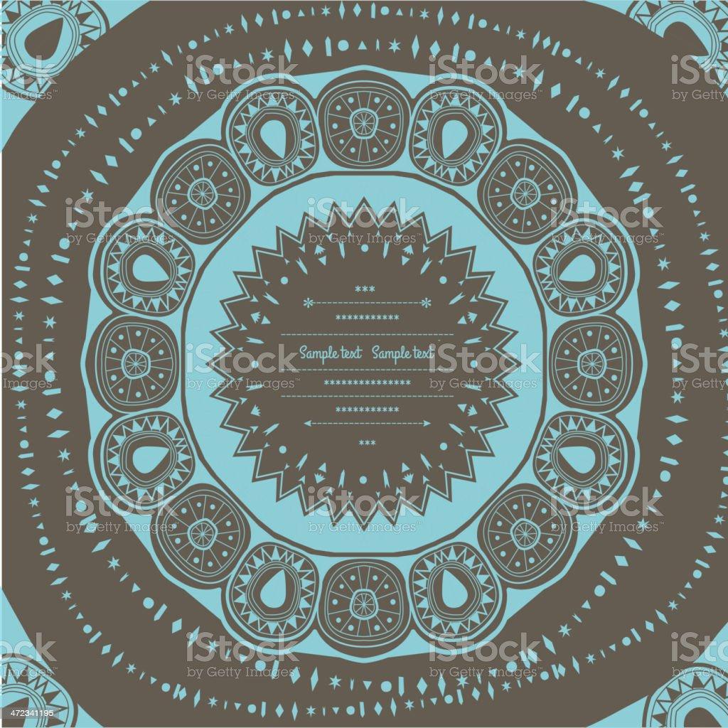 Geometric decor royalty-free stock vector art