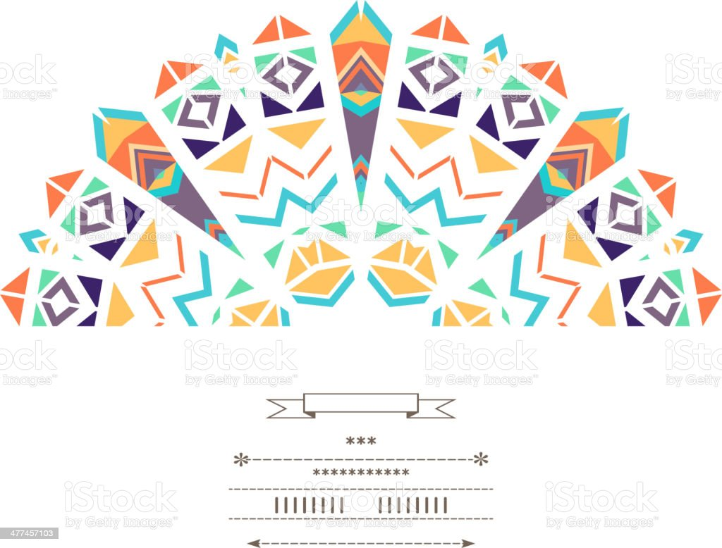 Geometric decor vector art illustration