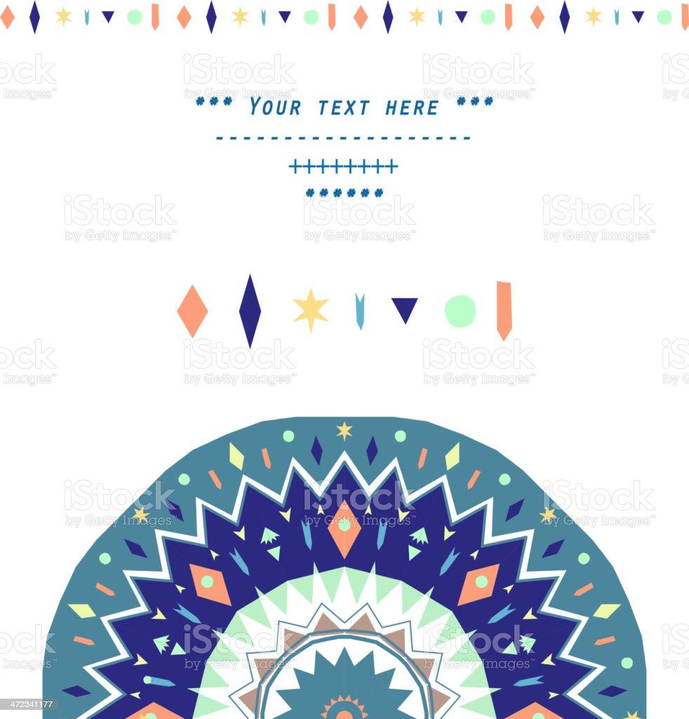 Geometric decoration royalty-free stock vector art
