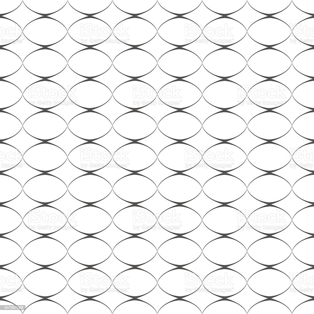 Geometric delicate simple seamless pattern with ovals vector art illustration