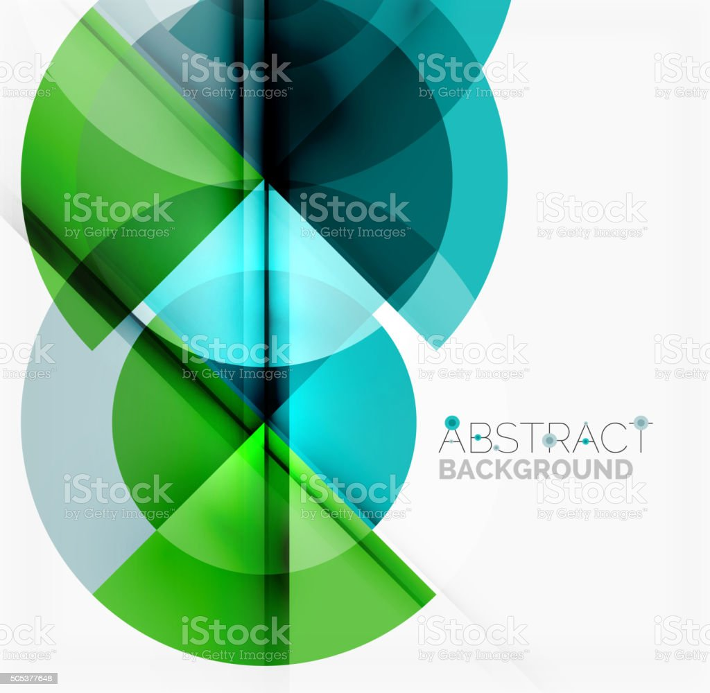Geometric design abstract background - circles vector art illustration