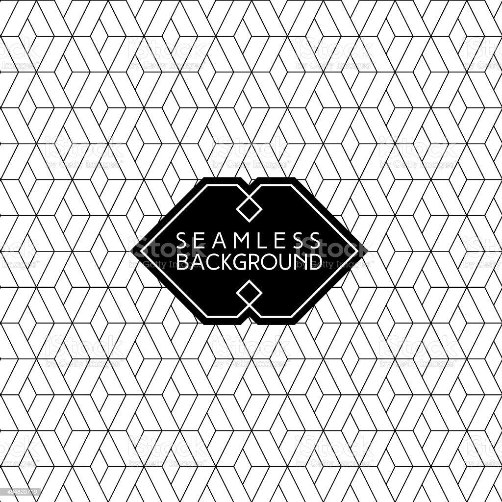 Geometric diamond patterned background vector art illustration