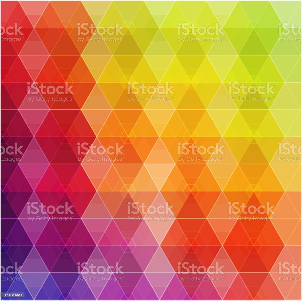Geometric diamond rainbow colored background royalty-free stock vector art