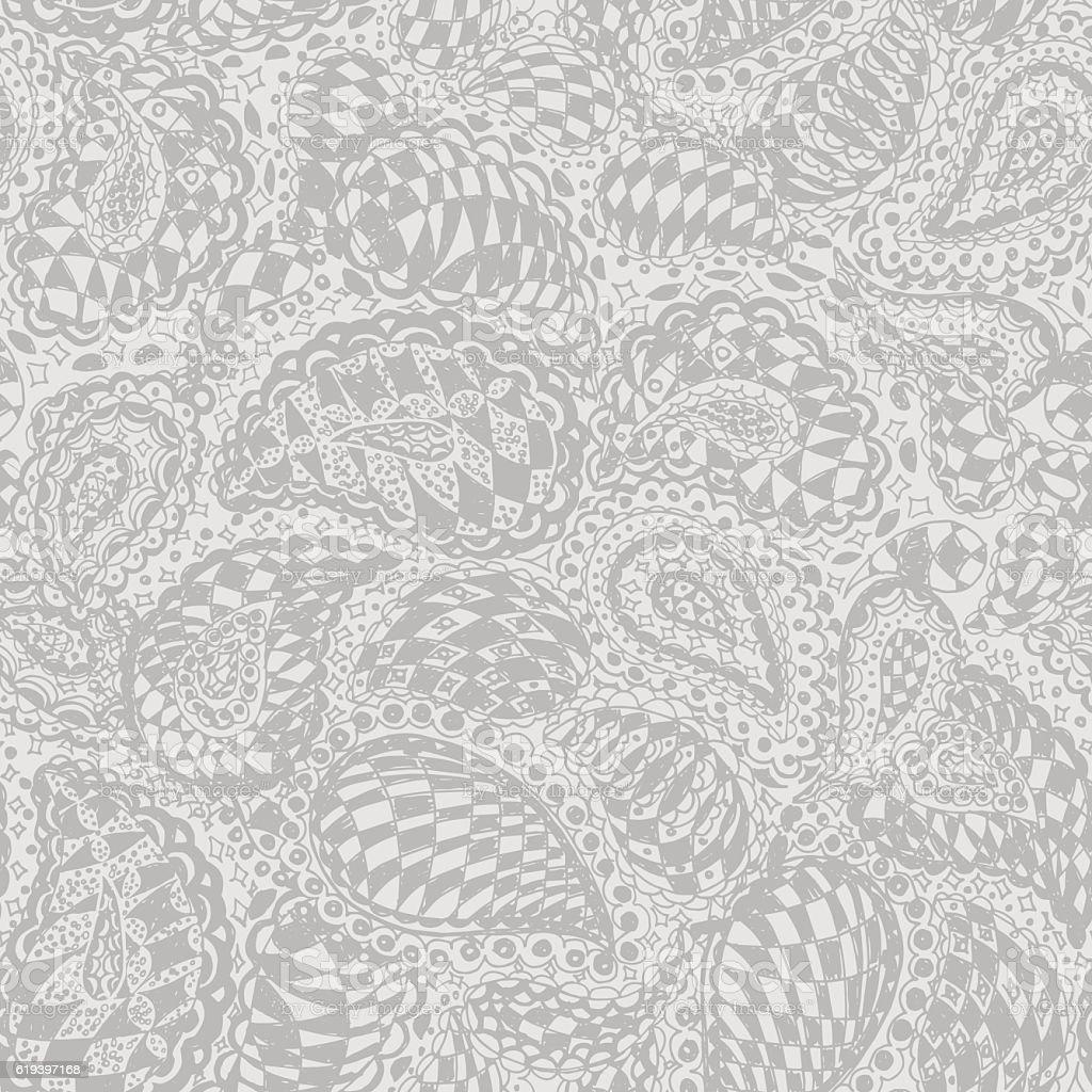 Geometric Doodle Seamless Wallpaper Pattern stock vector art ...