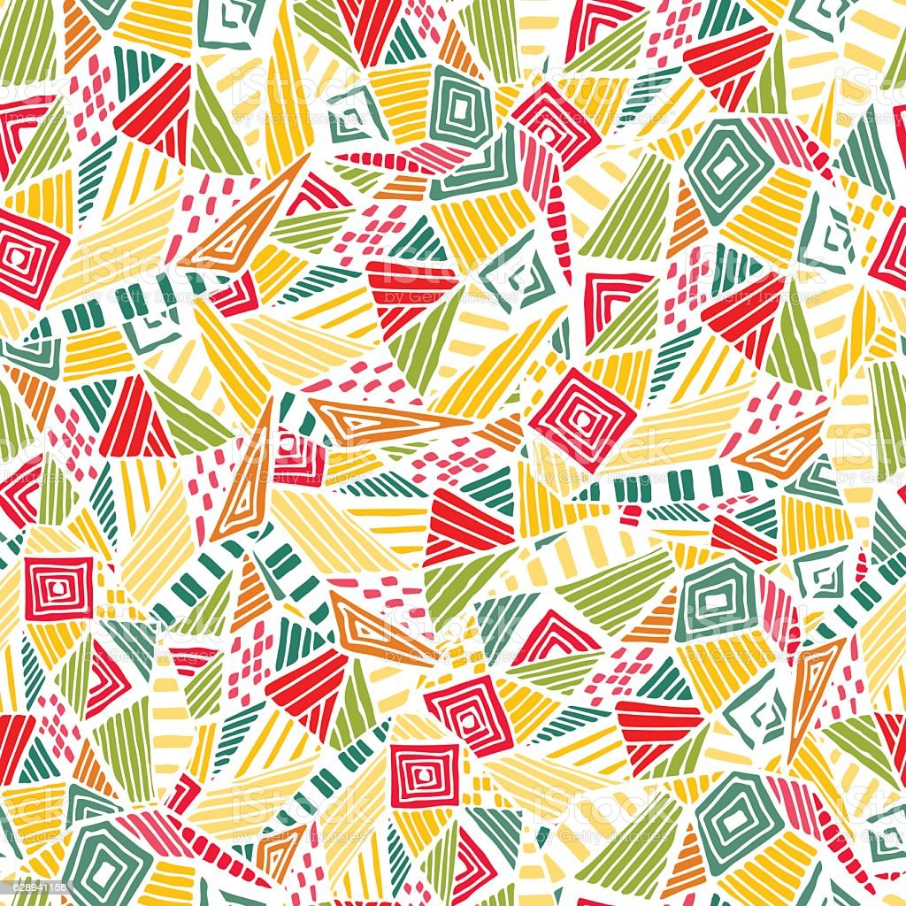 Geometric ethnic pattern design for background or wallpaper. royalty-free stock vector art
