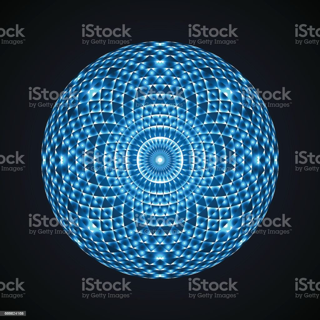 Geometric eye mandala. Colorful design element. Vector Illustration vector art illustration