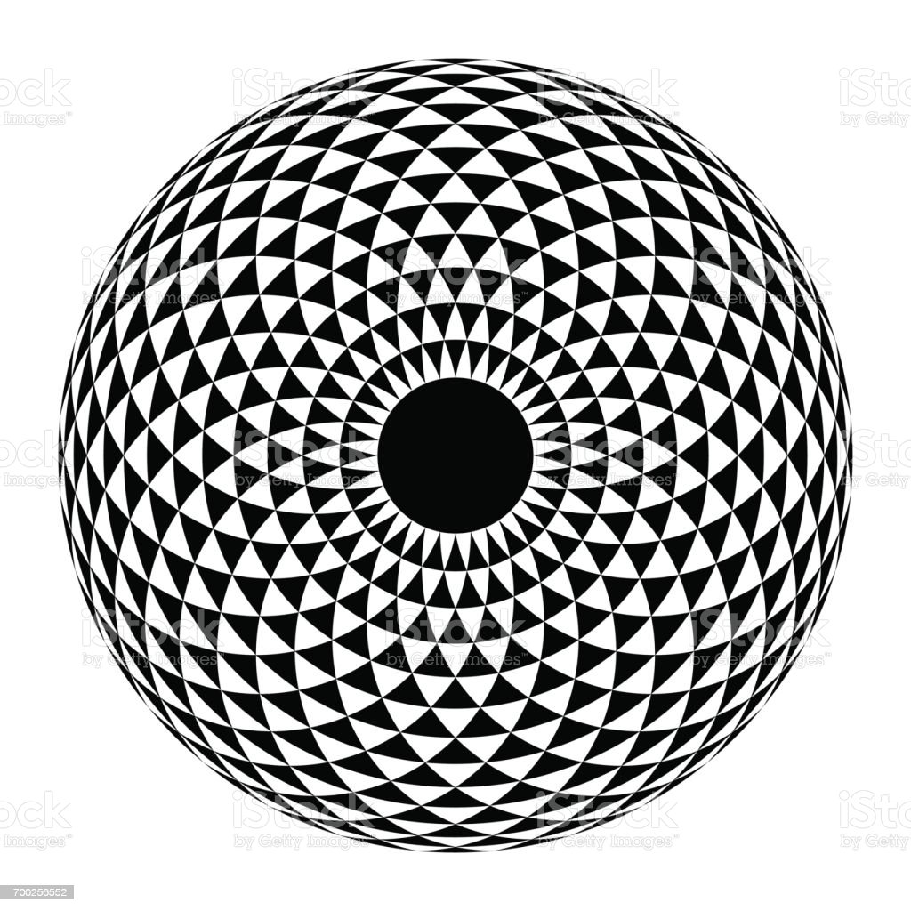Geometric eye mandala. Vector Illustration vector art illustration