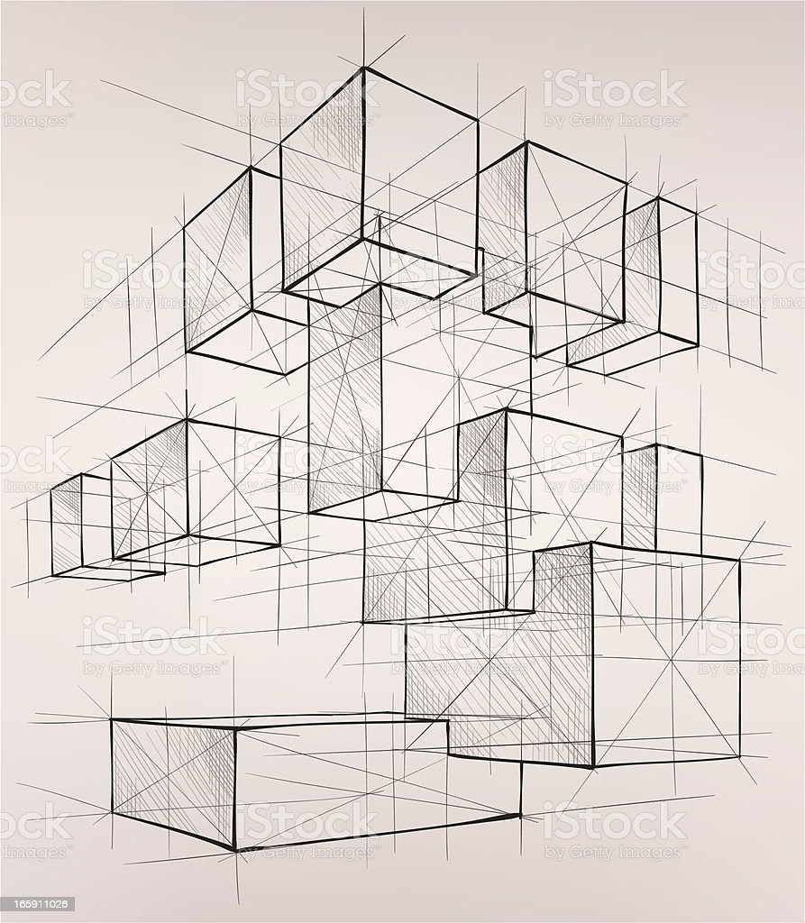 geometric figures vector art illustration