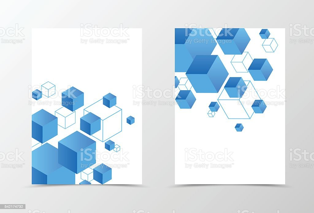Geometric Flyer Template Design Stock Vector Art   Istock