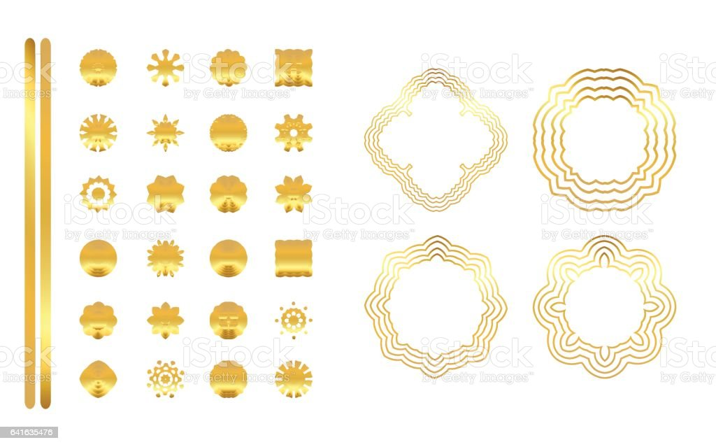 Geometric gold mandala. vector art illustration