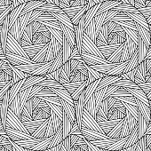 Geometric hand-written seamless pattern based on the line and circles.