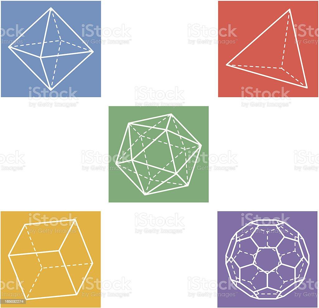 geometric icons royalty-free stock vector art