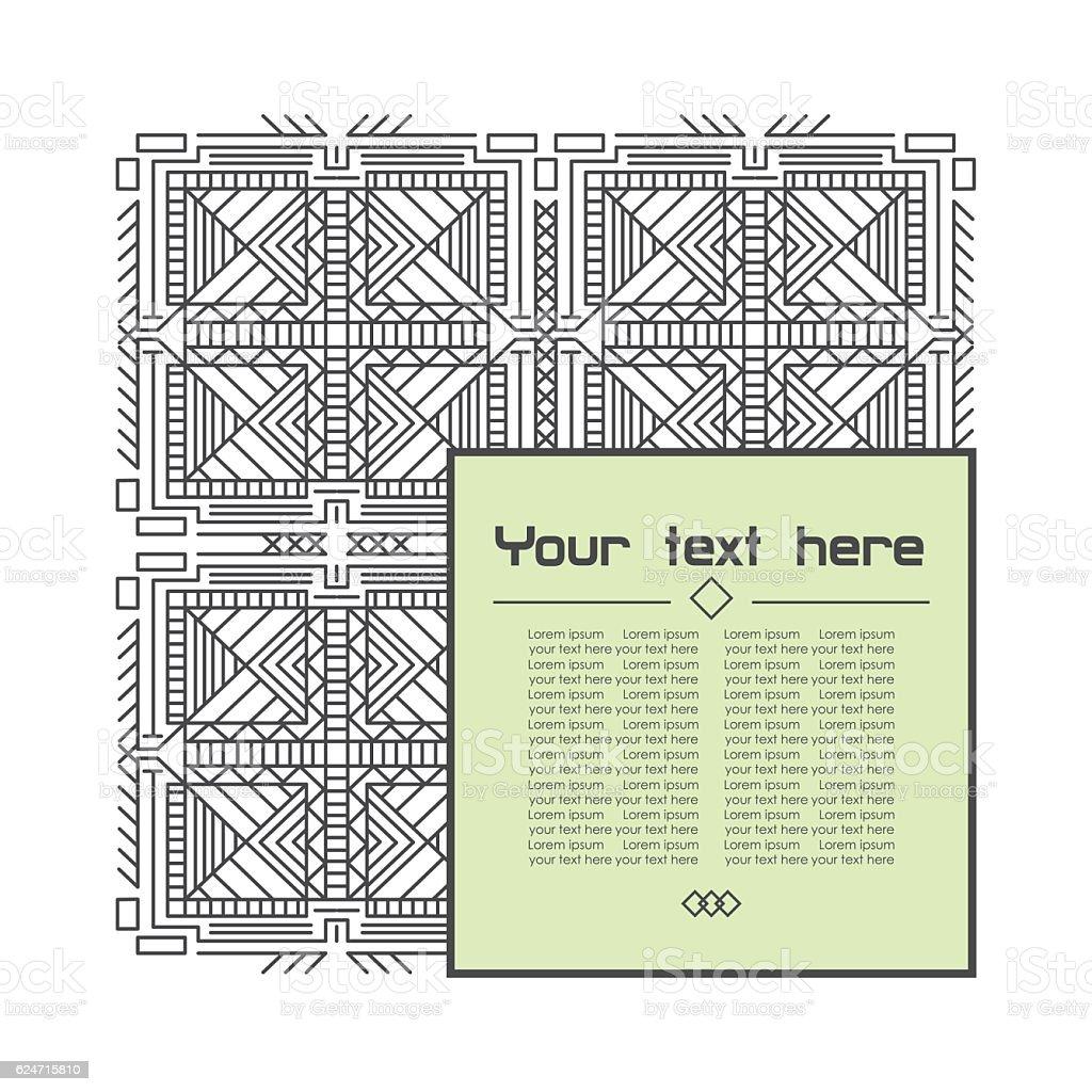 Geometric linear pattern royalty-free stock vector art