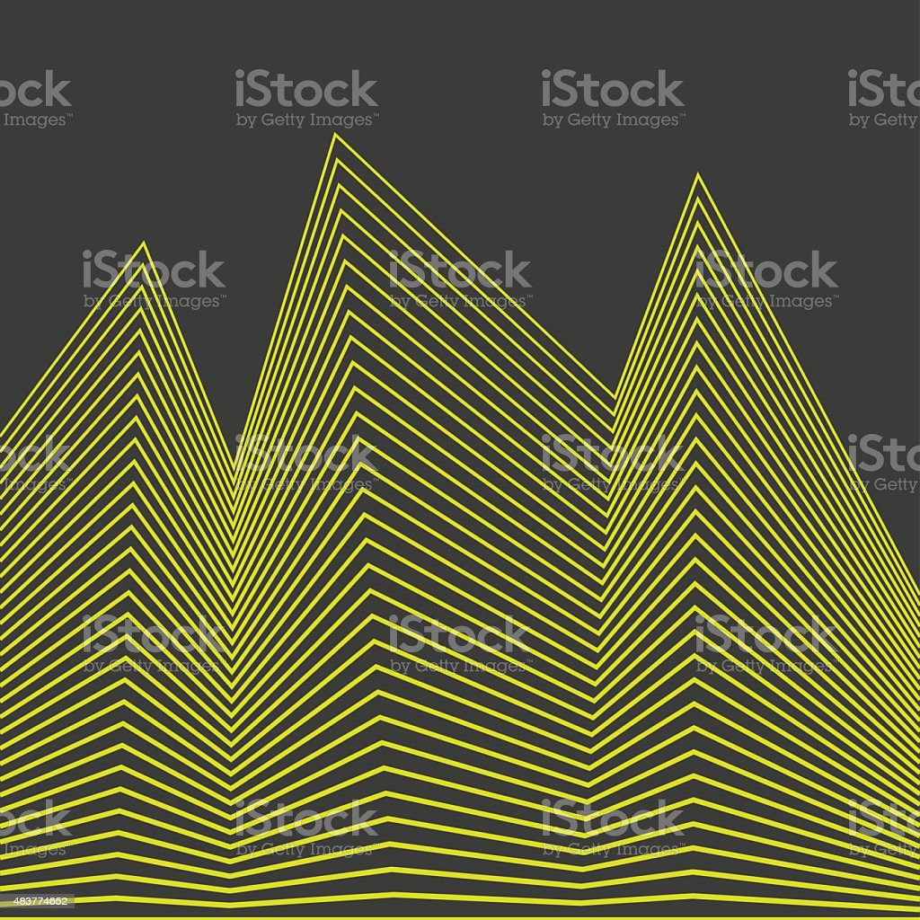 Geometric Lines - Creative and Inspiration Design vector art illustration