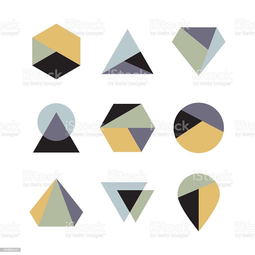 Geometric logo design vector art illustration