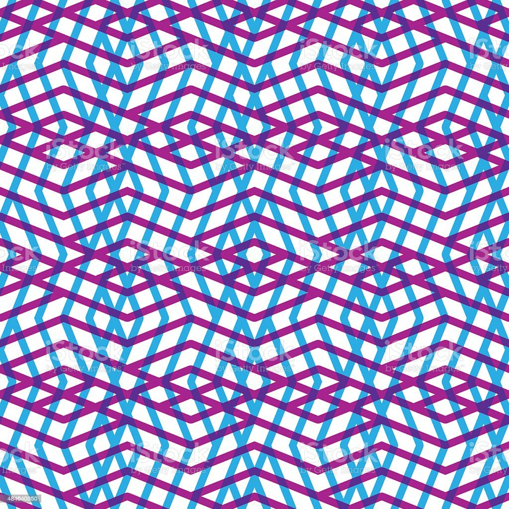 Geometric messy lined seamless pattern, bright vector background vector art illustration