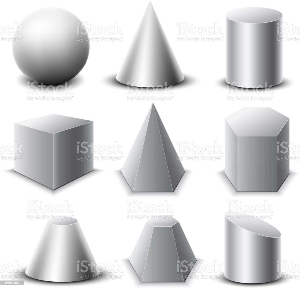 Geometric Objetcs Set vector art illustration