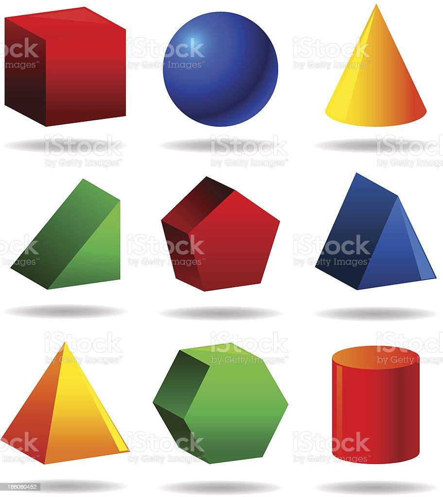 Geometric Objetcs Set royalty-free stock vector art