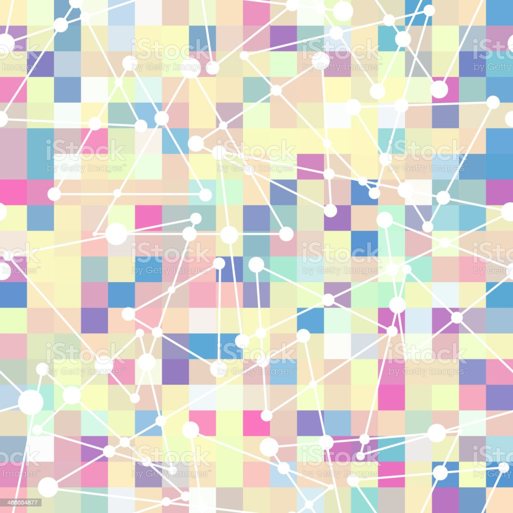 geometric pattern of color square and triangle vector art illustration