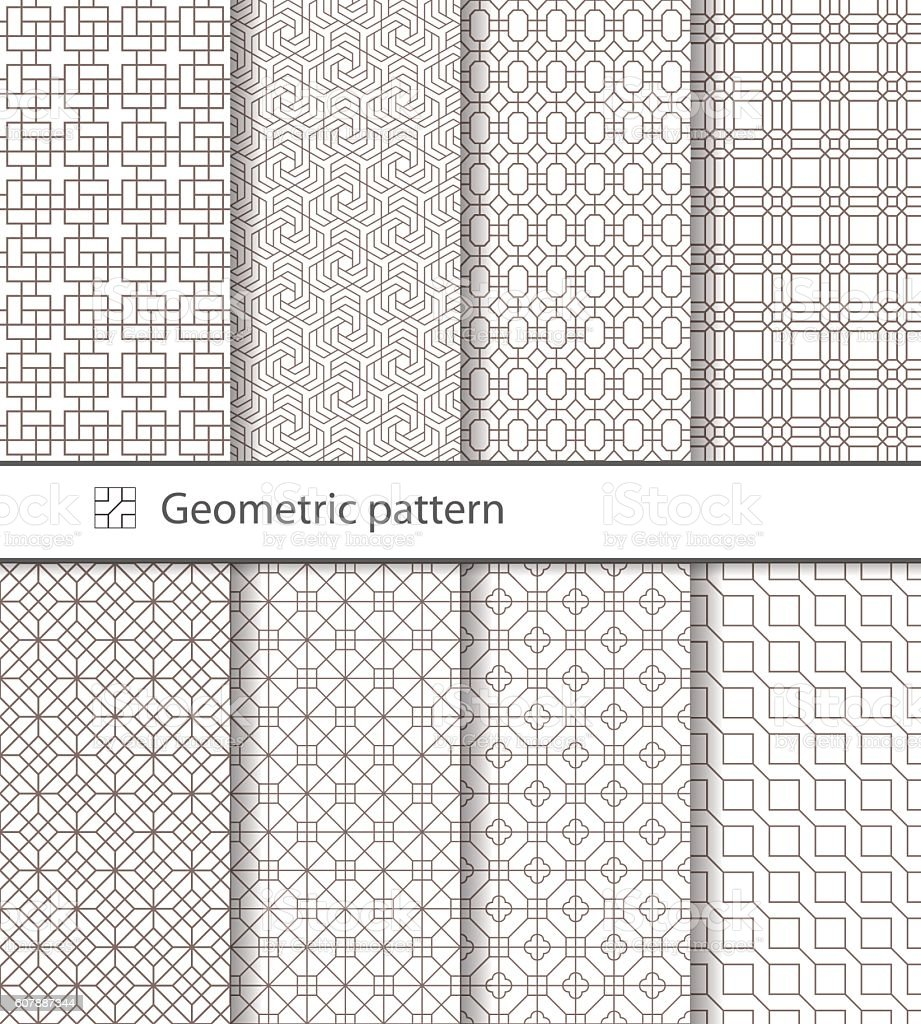 Geometric pattern seamless for your design. vector art illustration