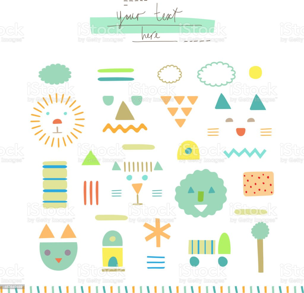 Geometric pattern. royalty-free stock vector art