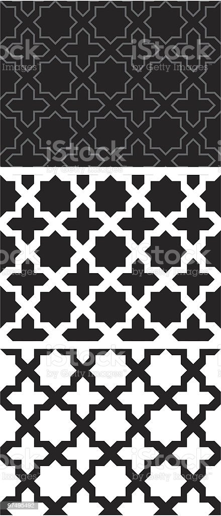 Geometric pattern (seamless) royalty-free stock vector art