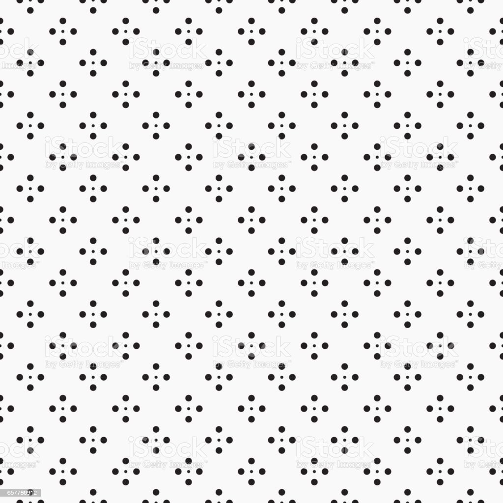 Geometric pattern with dots - seamless. vector art illustration