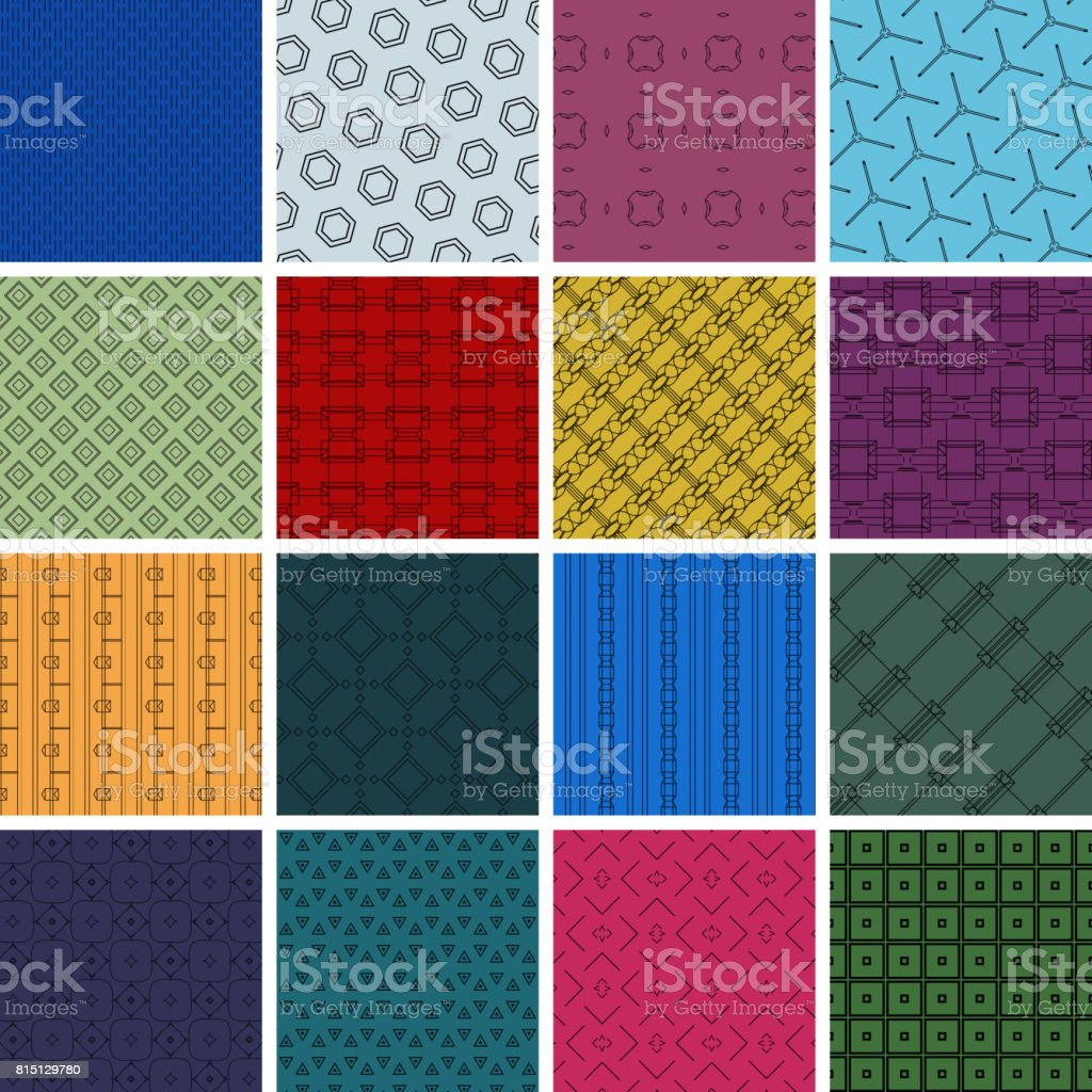 Geometric Patterns Collection vector art illustration