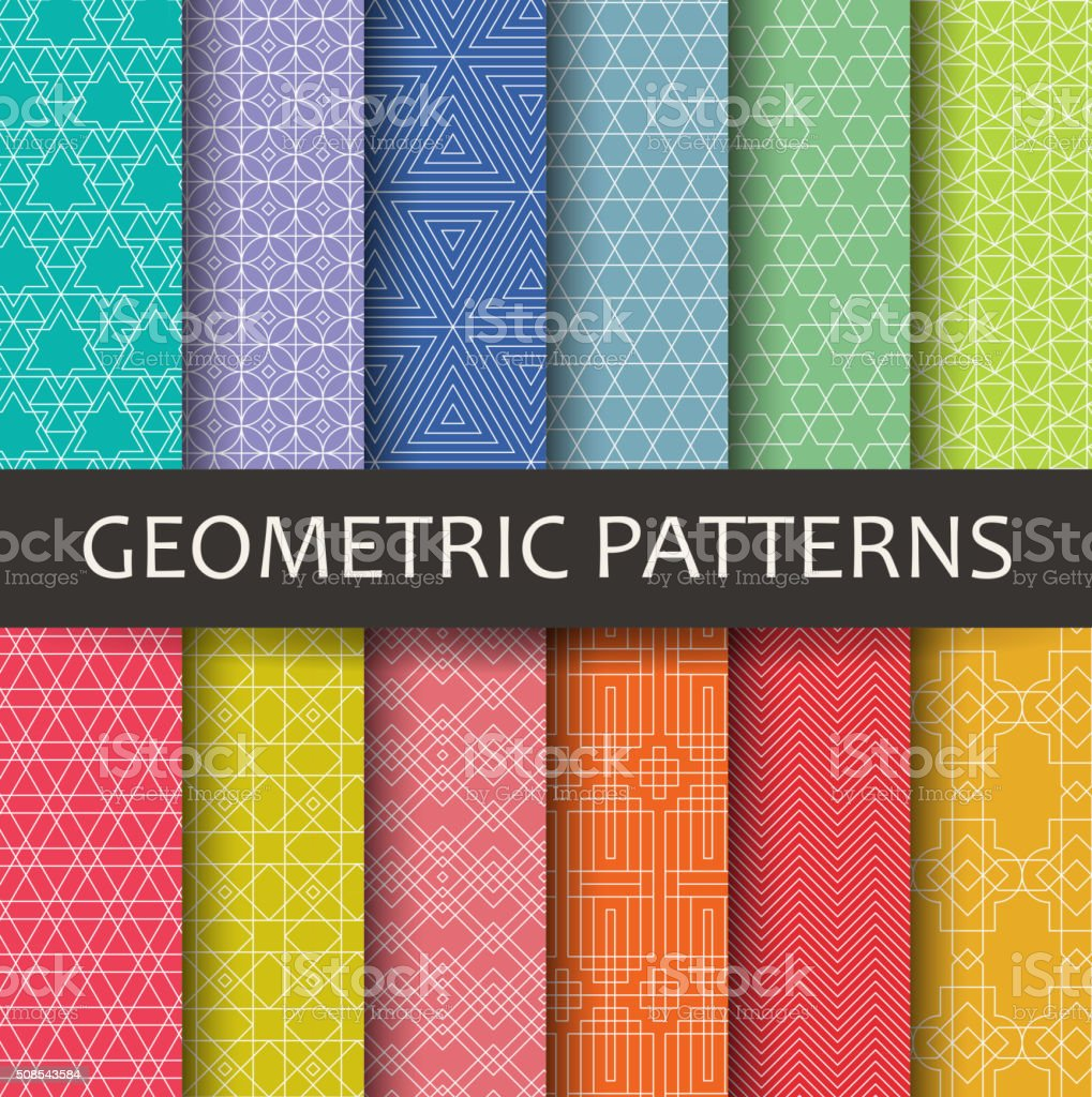 Geometric patterns vector art illustration