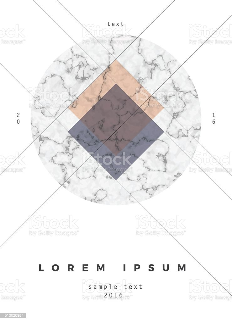 Geometric poster design vector art illustration
