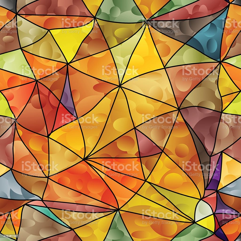 Geometric seamless background. vector art illustration