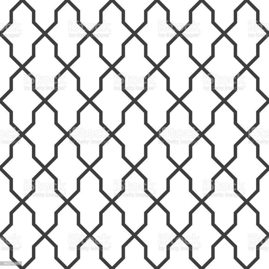 Geometric seamless grating background, vector illustration. vector art illustration