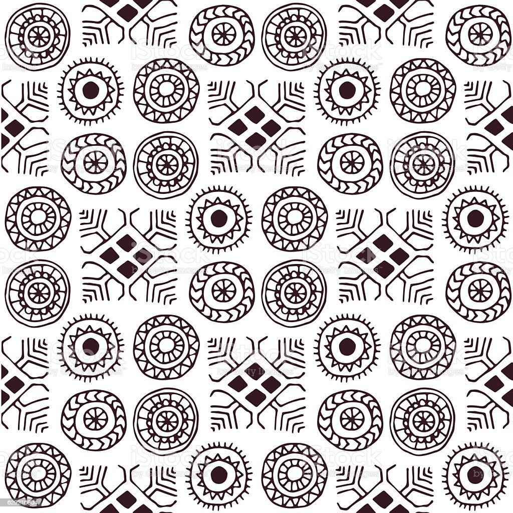 geometric seamless pattern in the style of boho royalty-free stock vector art