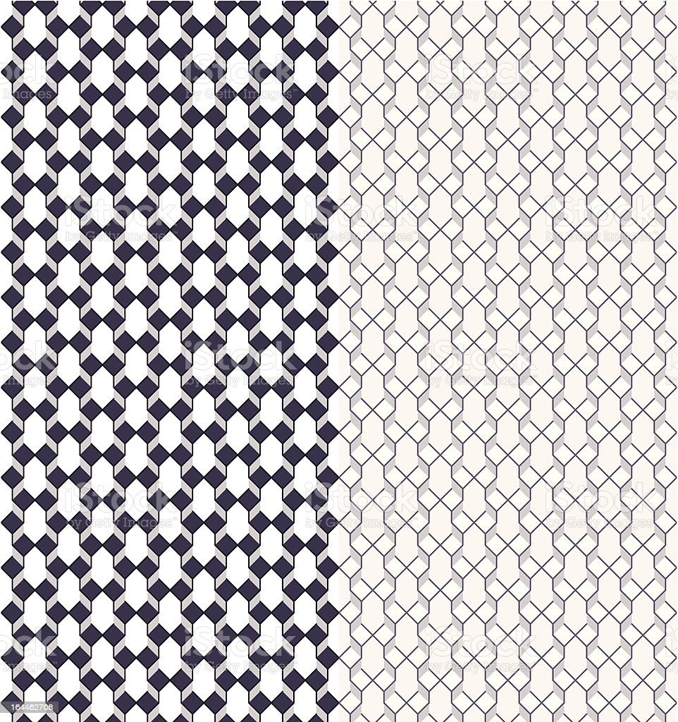 Geometric seamless pattern with color variations royalty-free stock vector art