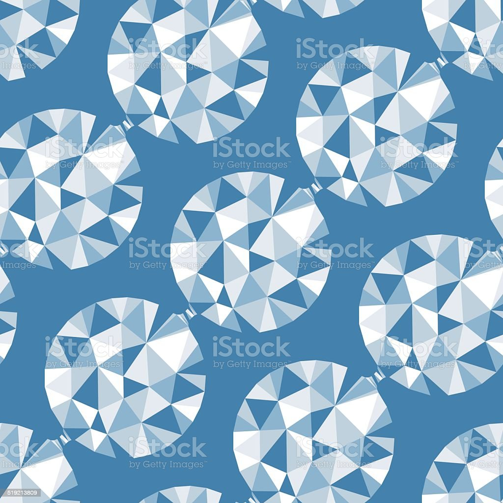 Geometric seamless pattern with gems. Vector illustration. vector art illustration