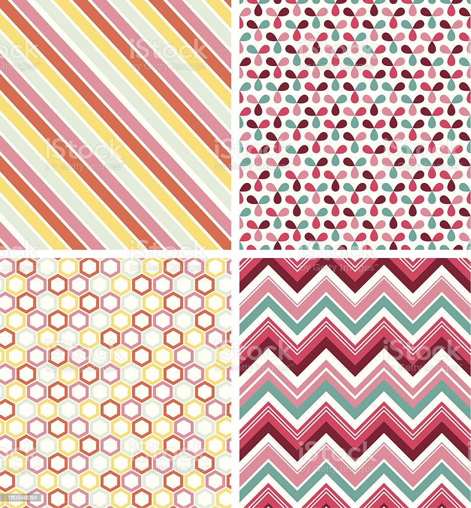 Geometric seamless patterns royalty-free stock vector art