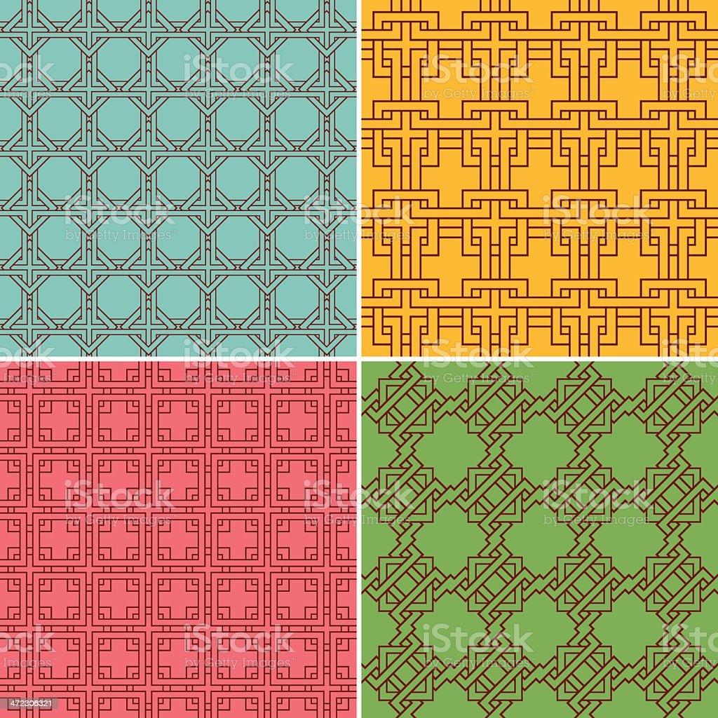 Geometric Seamless Patterns royalty-free stock vector art