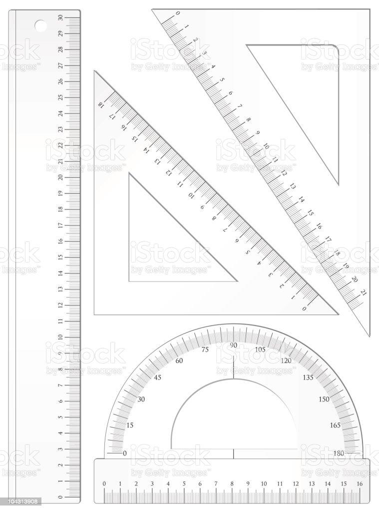 Geometric set vector art illustration
