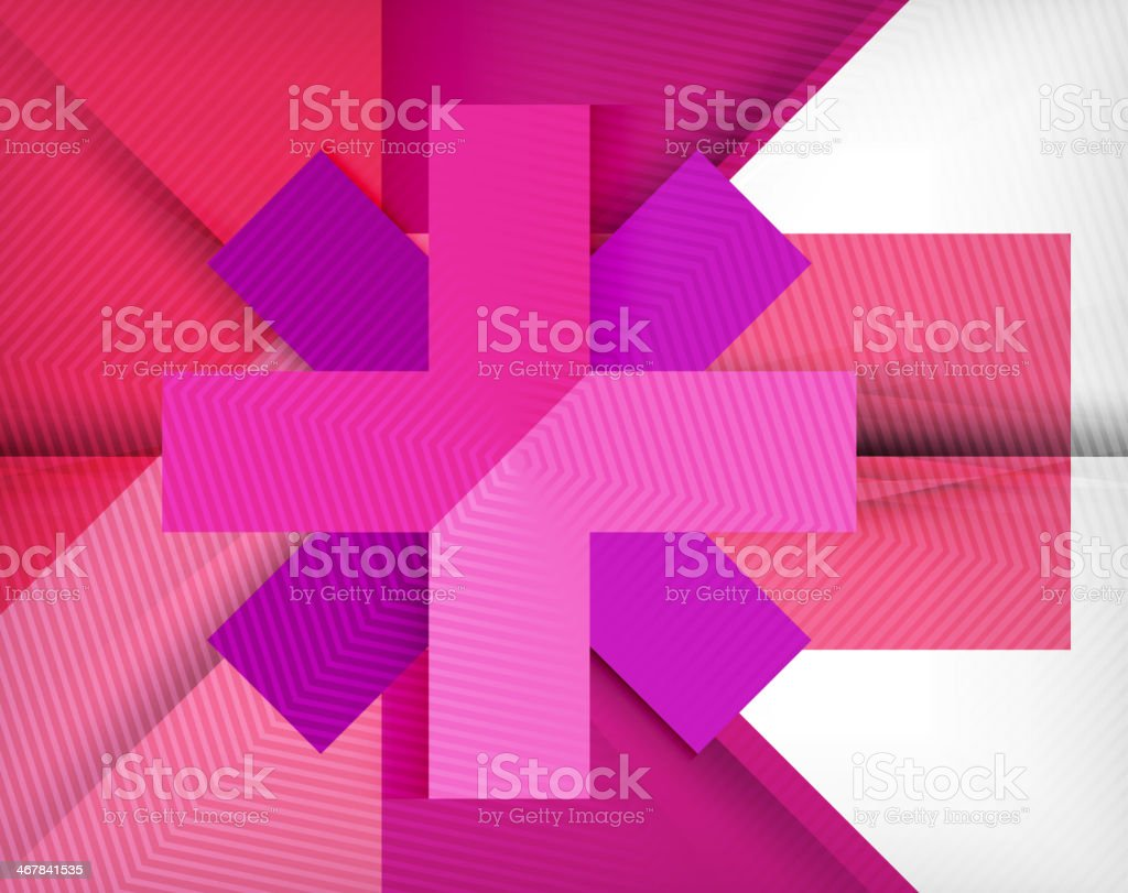 Geometric shape flat abstract background royalty-free stock vector art