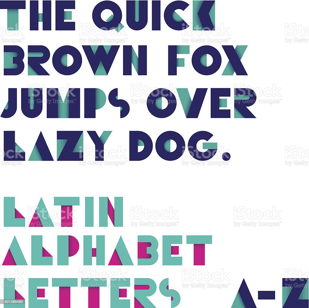 Geometric shapes alphabet letters royalty-free stock vector art